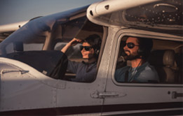 Pilots in airplane rentals